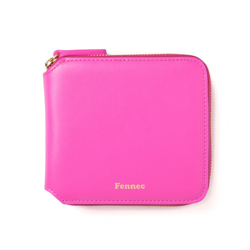 (SCRATCH SALE) ZIPPER WALLET - PINK