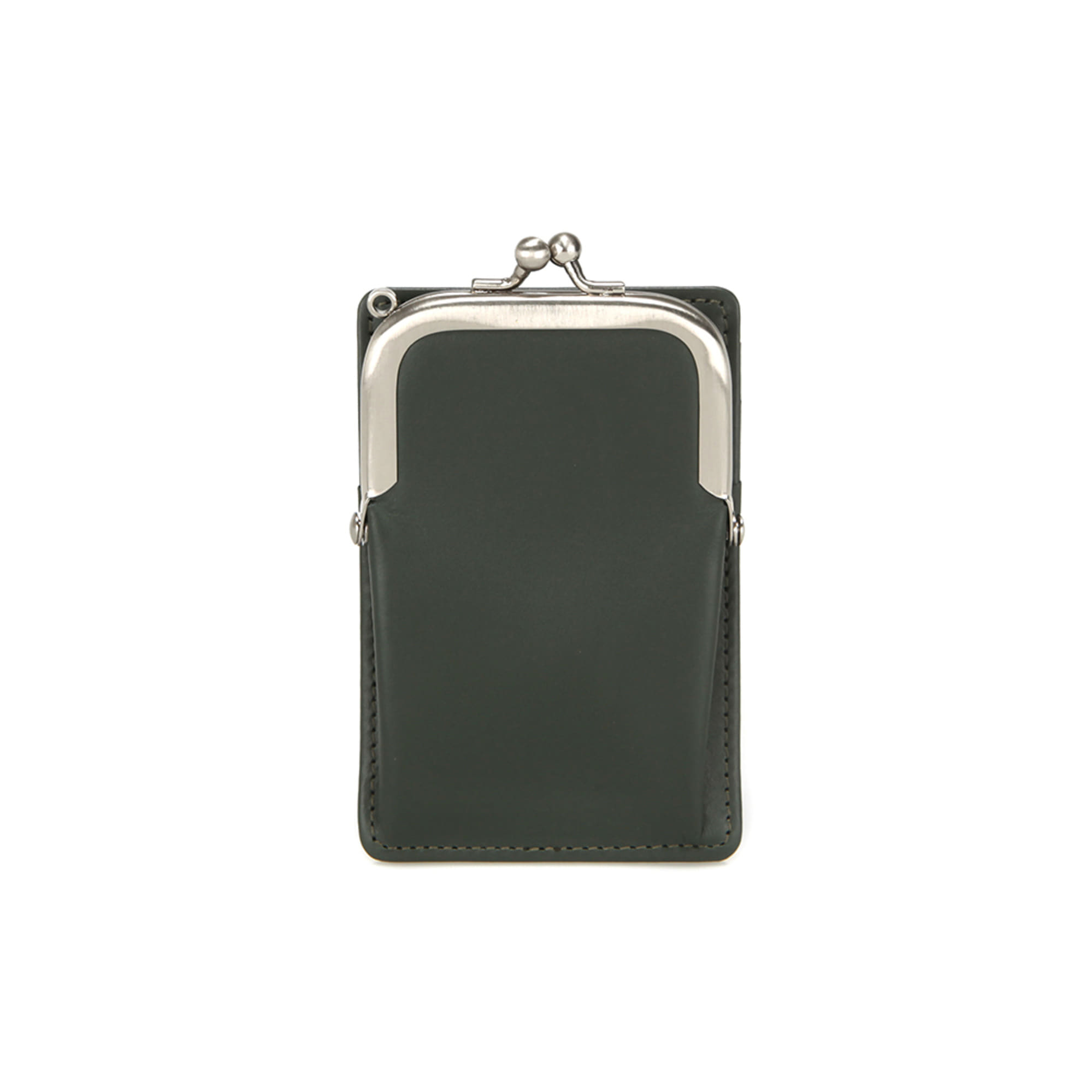 (SCRATCH SALE) FRAME MINI CARD WALLET - KHAKI