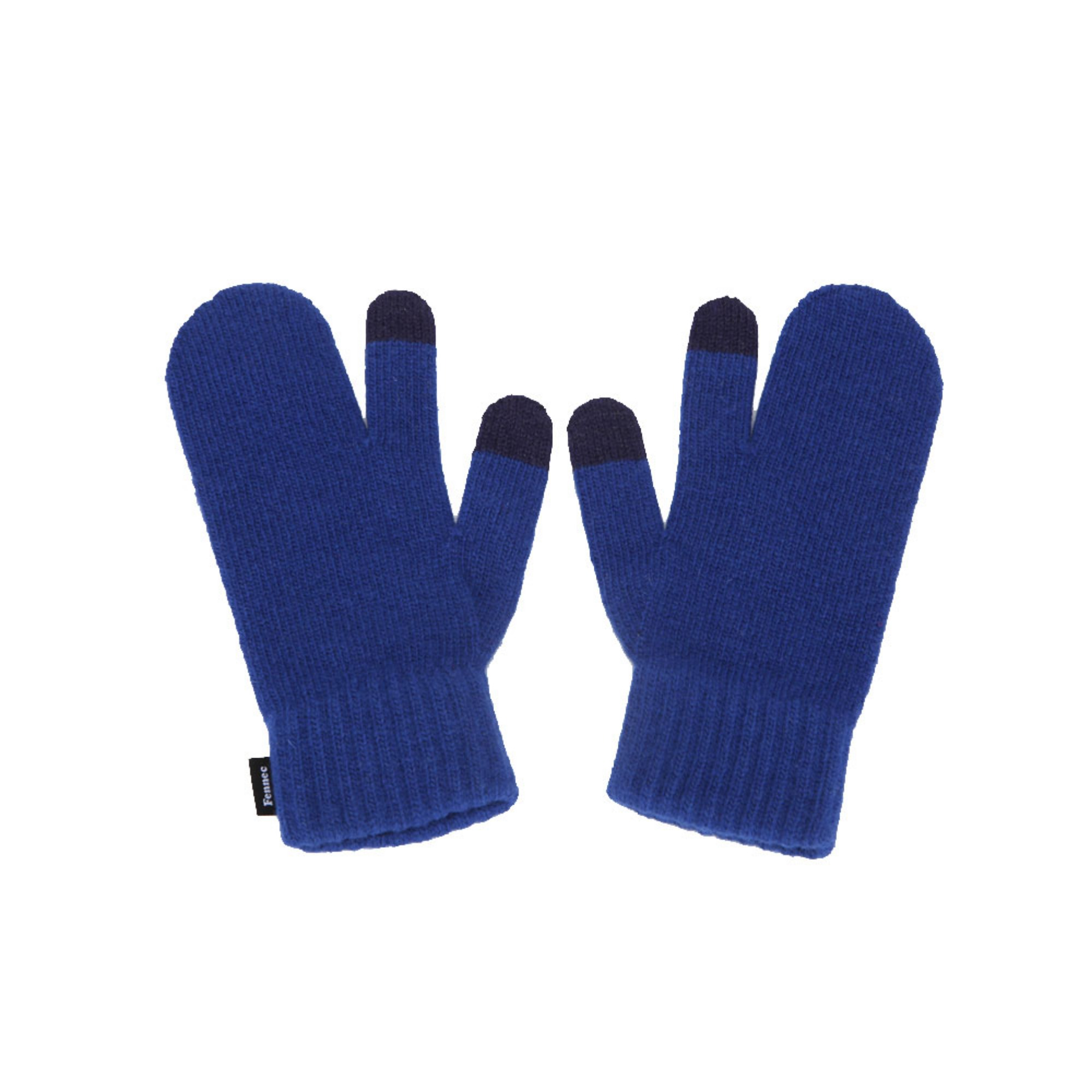 KNIT TIMI GLOVES - BLUE