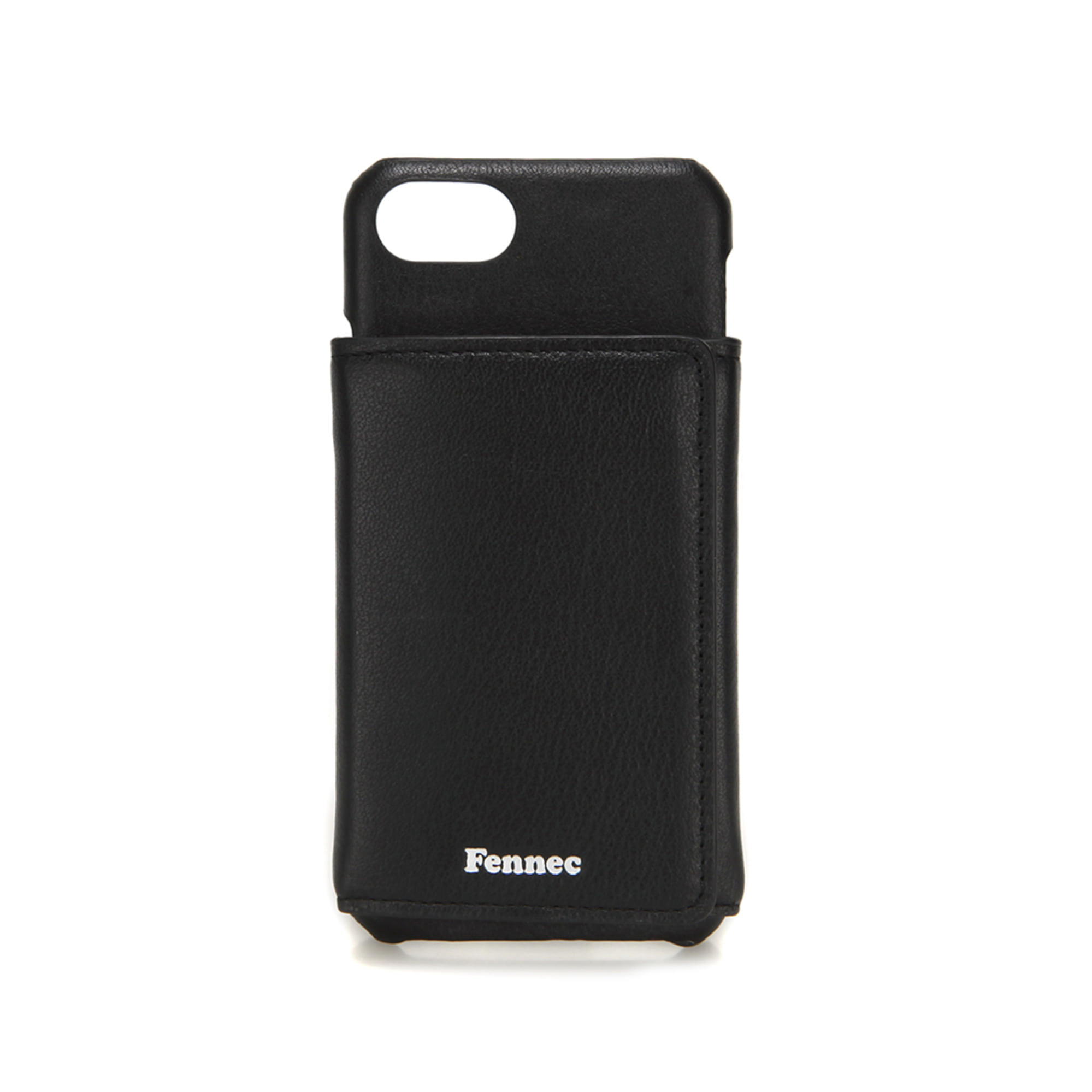 [DISCONTINUE] LEATHER iPHONE 7/8 TRIPLE POCKET CASE - BLACK