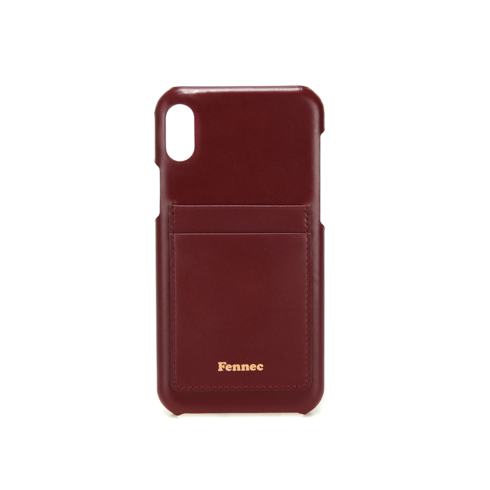 [DISCONTINUE] LEATHER iPHONE XR CARD CASE - WINE