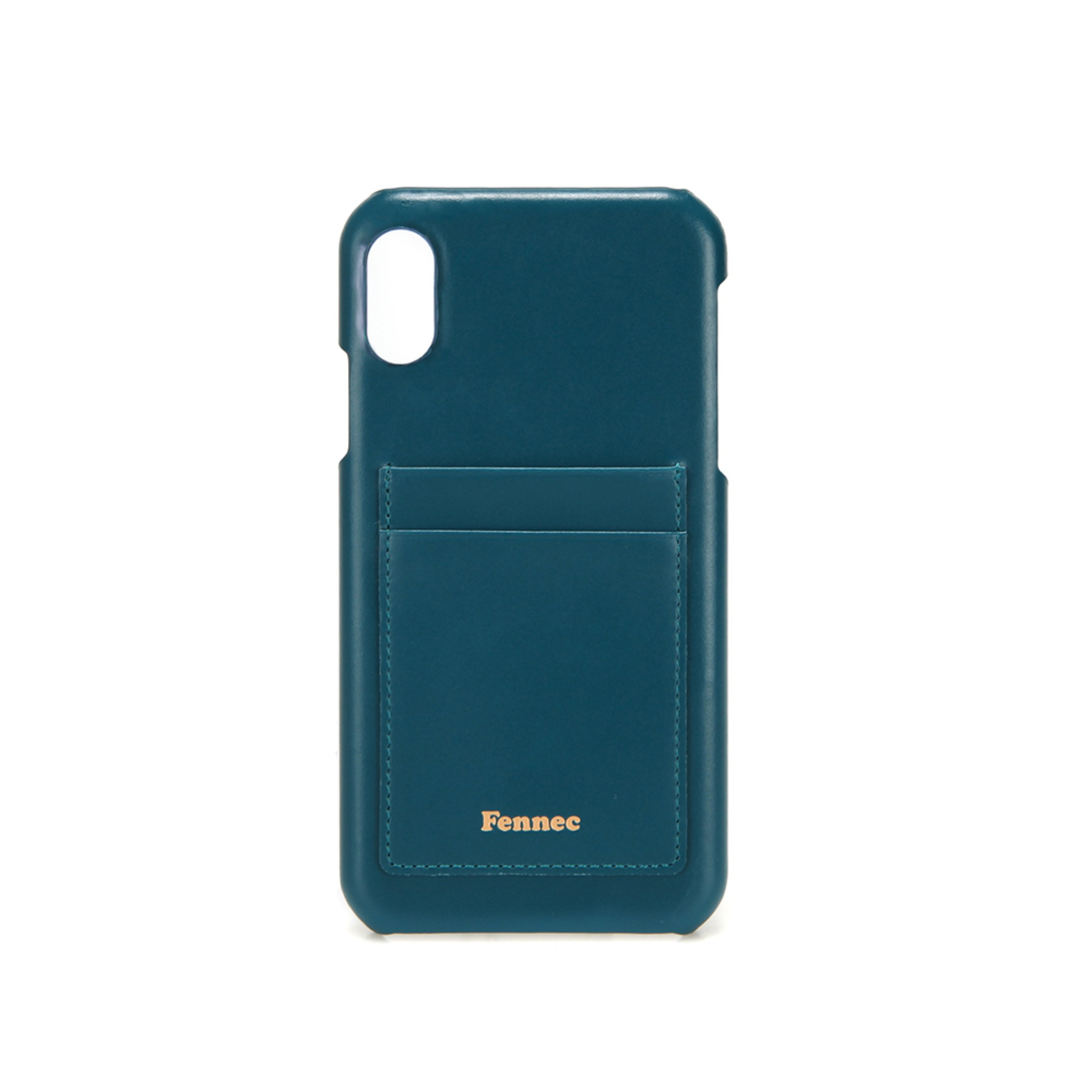 [DISCONTINUE] LEATHER iPHONE XR CARD CASE - SEAGREEN