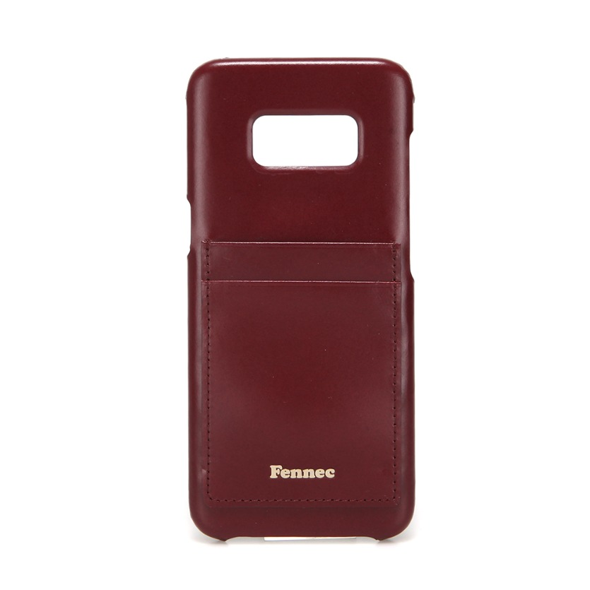 [DISCONTINUE] LEATHER GALAXY S8 CARD CASE - WINE