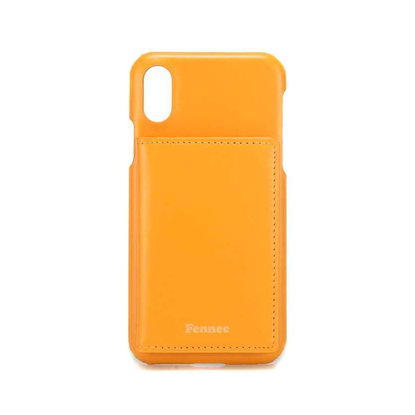 [DISCONTINUE] LEATHER iPHONE X/XS POCKET CASE - MANDAIRIN