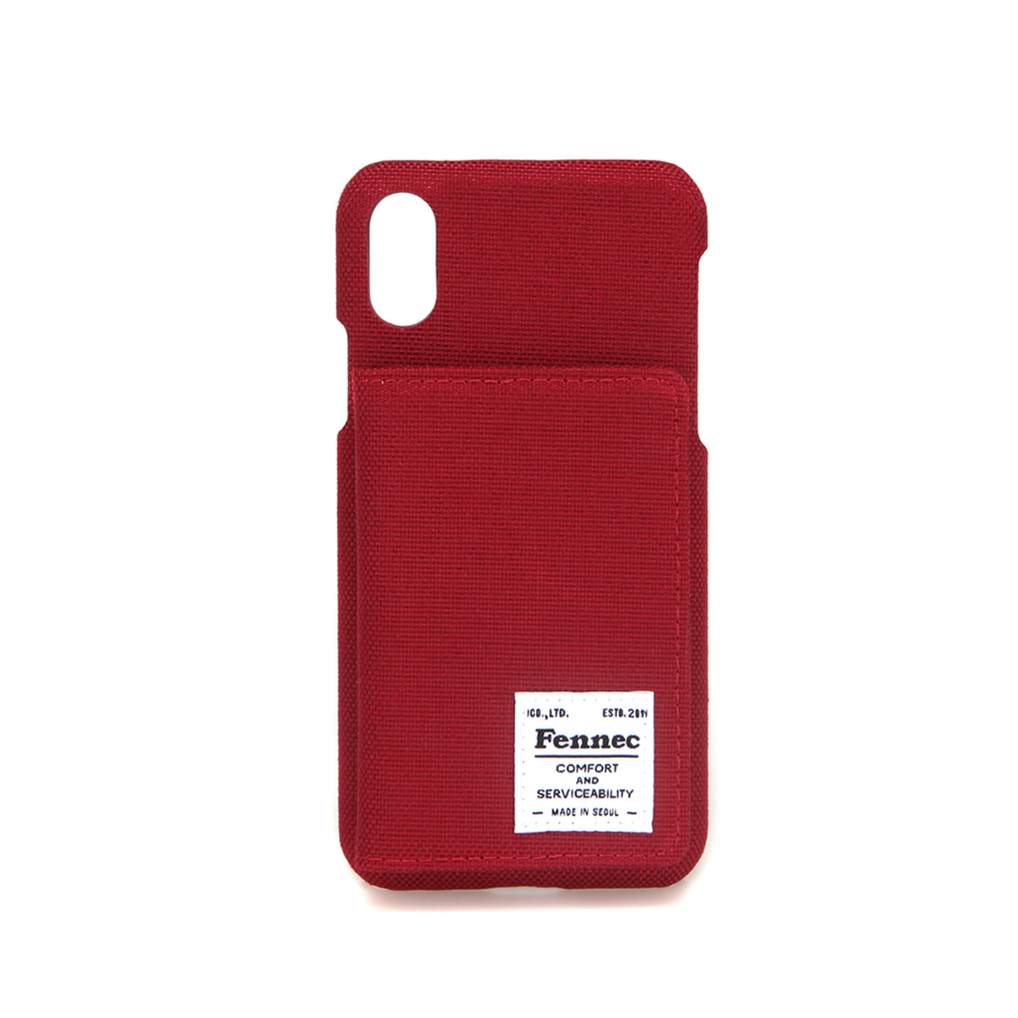 [DISCONTINUE] C&S iPHONE X/XS POCKET CASE - SMOKE RED