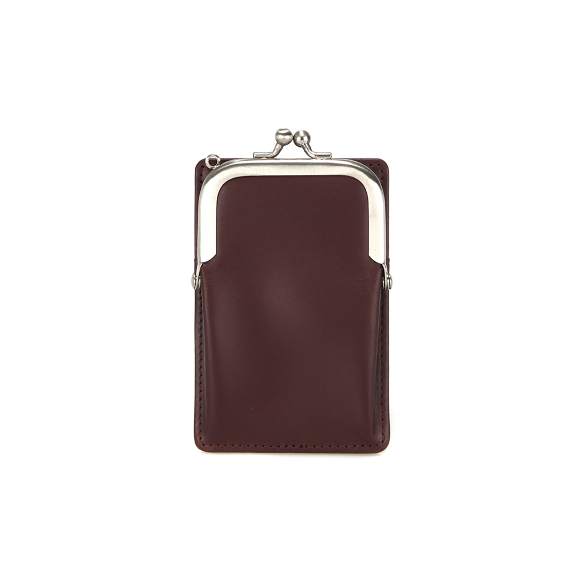 [DISCONTINUE] FRAME MINI CARD WALLET - WINE