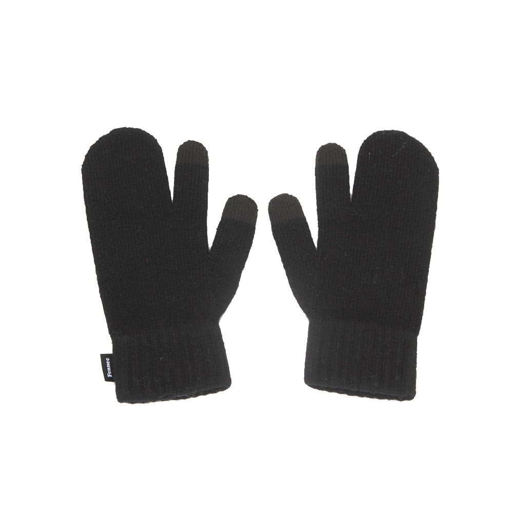 KNIT TIMI GLOVES_ver.3 - BLACK