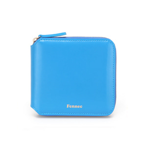 (SCRATCH SALE) ZIPPER WALLET - BLUE