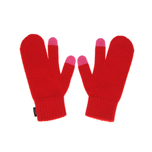 KNIT TIMI GLOVES - RED
