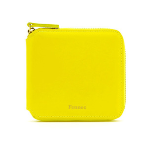 (SCRATCH SALE) ZIPPER WALLET - YELLOW